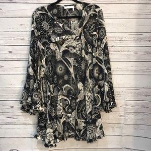 Authentic Chloe sheer flutter sleeve dress {P13